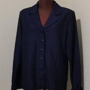 3for$20 Weekenders, black/purple pinstripe blazer